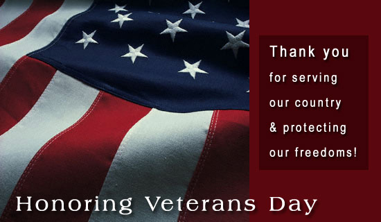 A Veteran's Day Thank you!